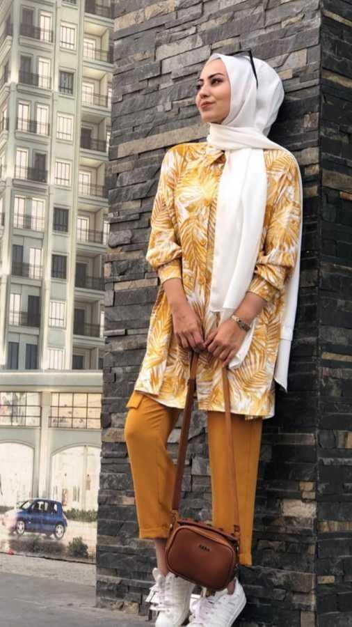 Eliza Moda Tesettür Çiçekli Spor Gömlek Modelleri