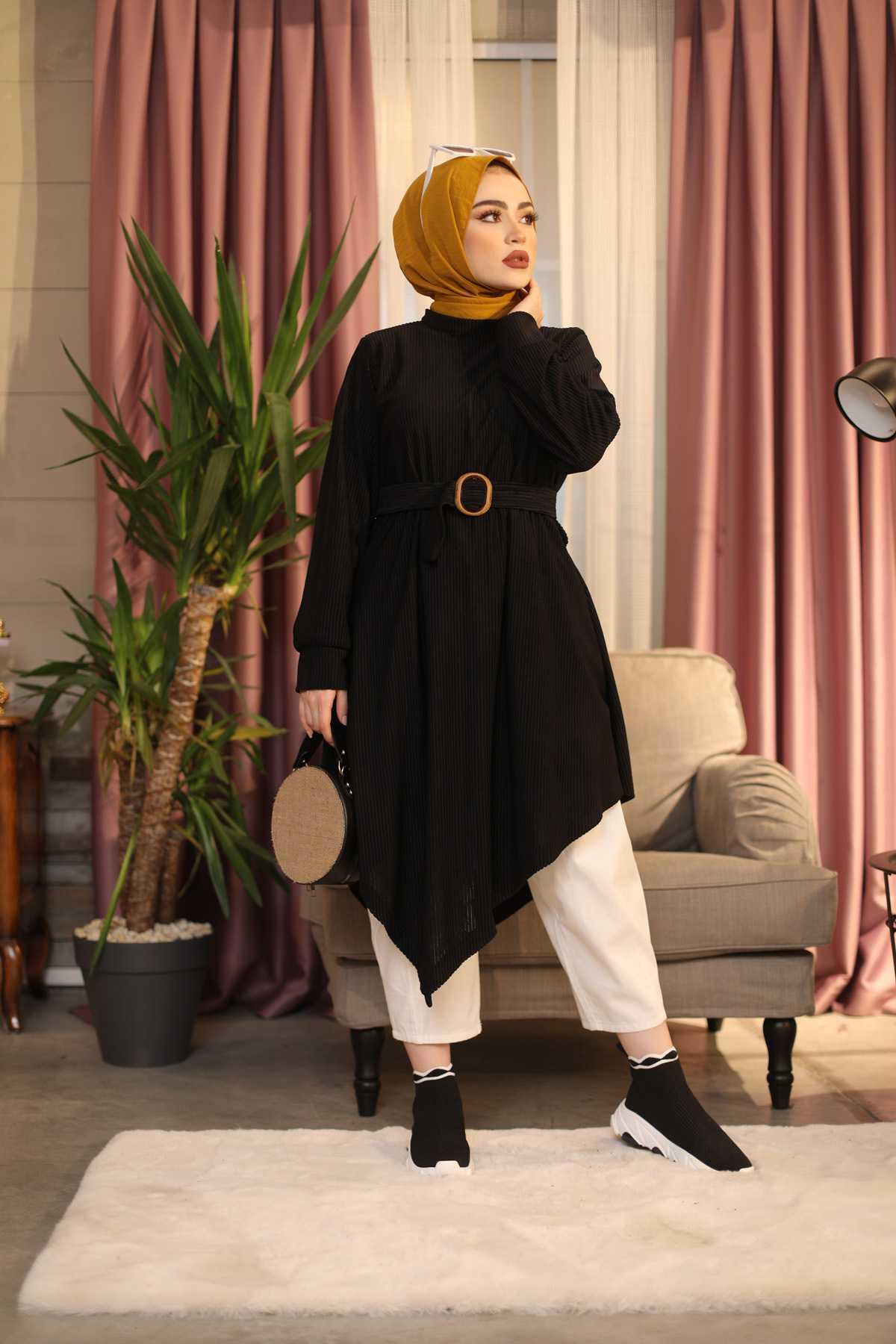 Eliza Moda Tesettür Aimetrik Kesim Tunik Modelleri
