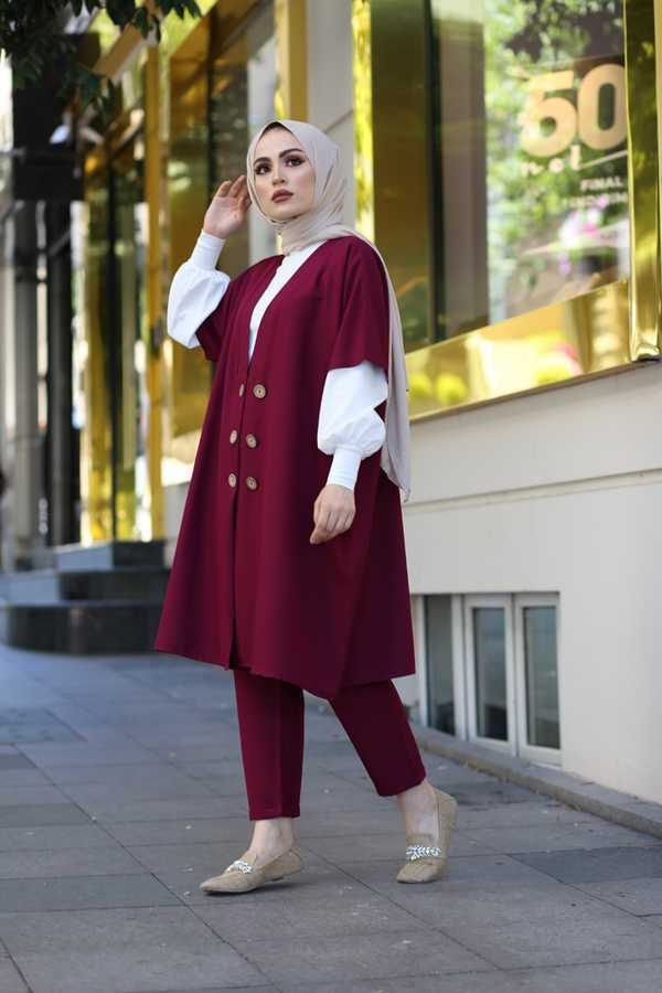 Eliza Moda Tesettür Ceketli Takım Modelleri