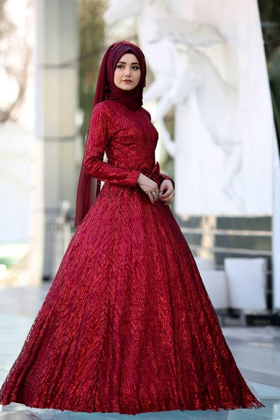 En Şık Tesettür Kına Elbisesi Modelleri