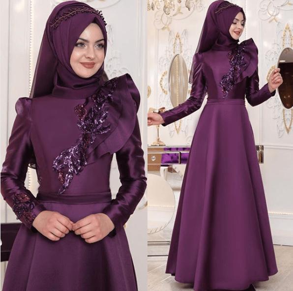 En Güzel Tesettür Kına Elbisesi Modelleri