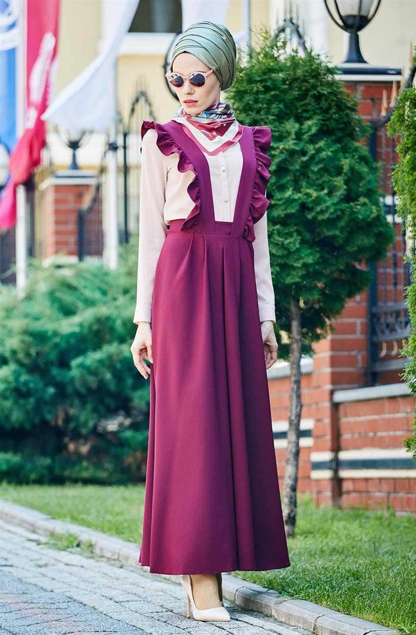 Nursima Tesettür Askılı Jile Elbise Modelleri