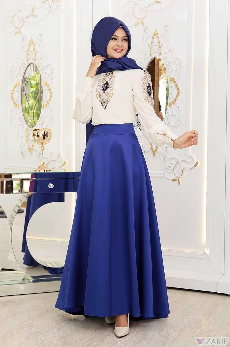 Pınar Şems Tesettür İşlemeli Gömlek Modelleri