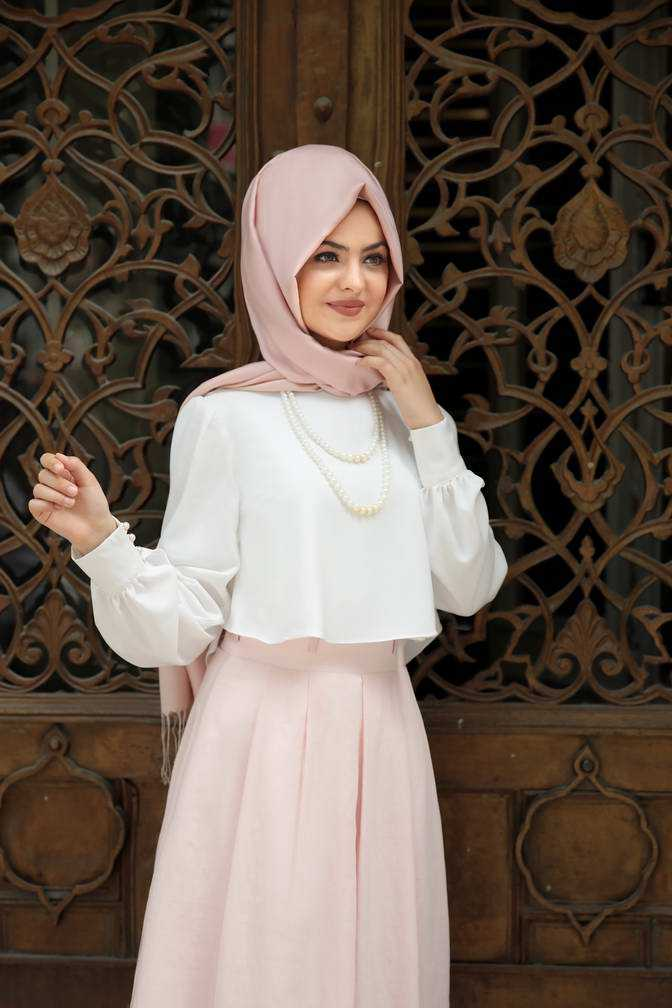 Pınar Şems Tesettür Pelerinli Gömlek Modelleri