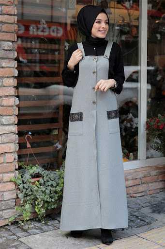 Zehrace Tesettür Askılı Jile Elbise Modelleri