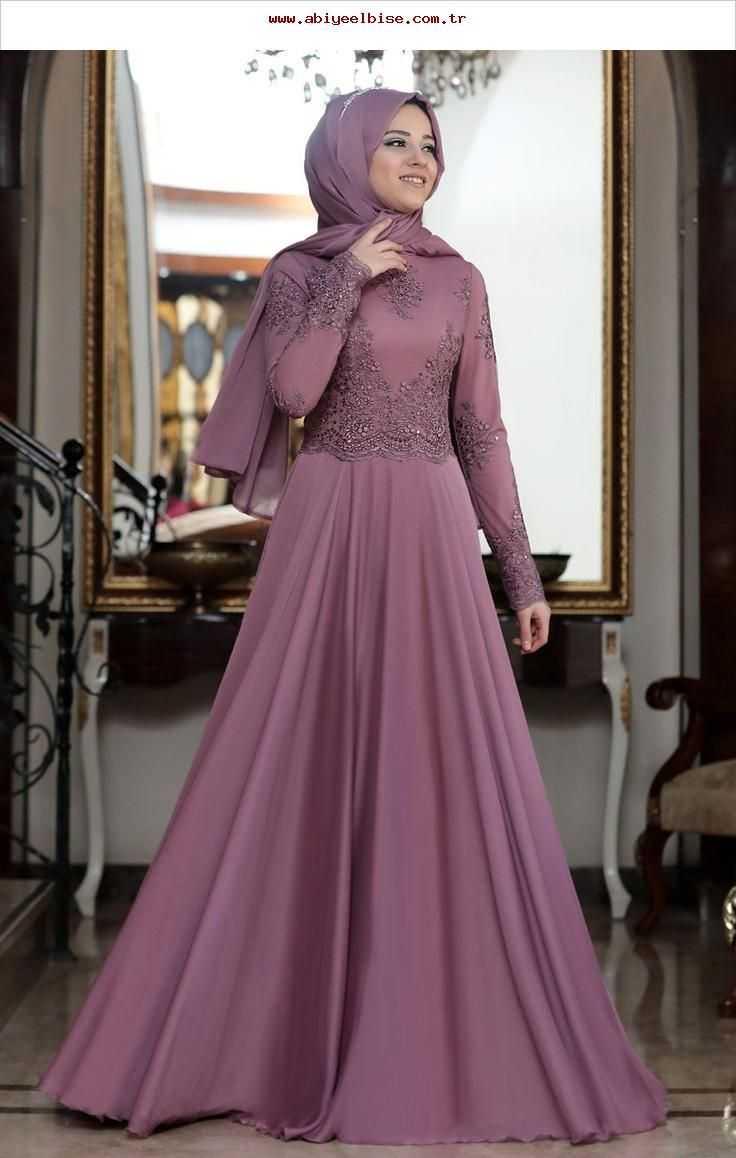 Al Marah Gül Kurusu Tesettür Abiye Elbise Modelleri