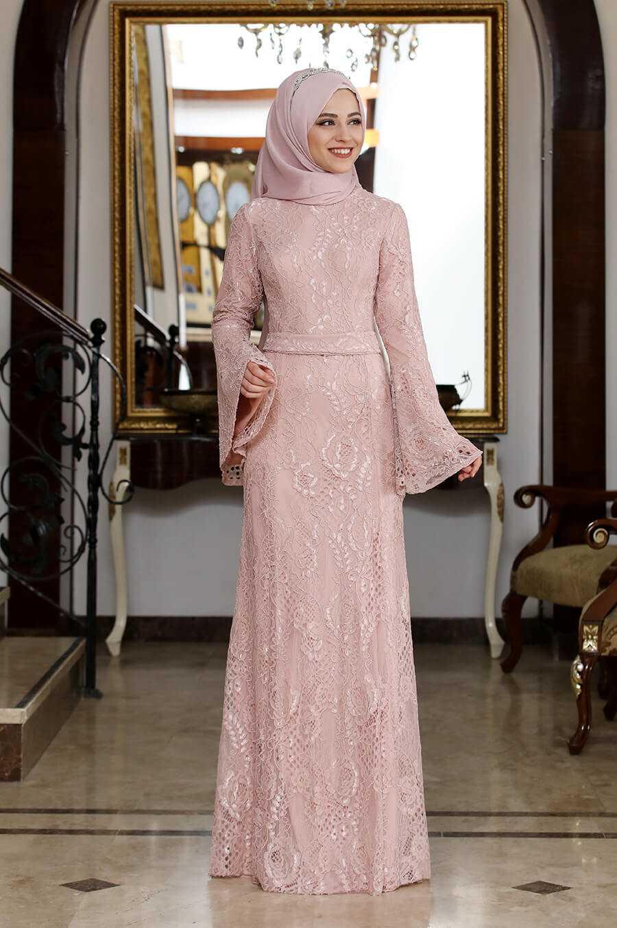Al Marah Tesettür Dantel Abiye Elbise Modelleri