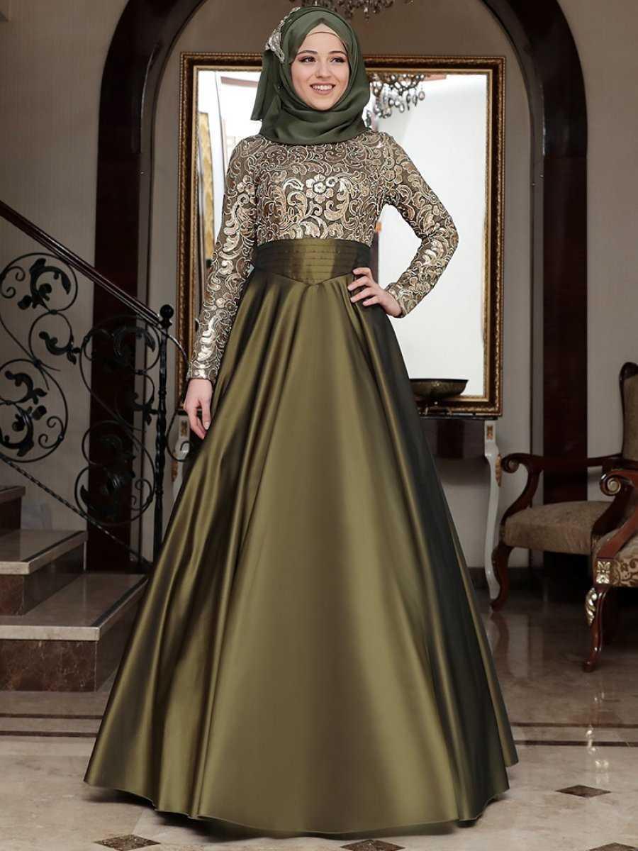 Al Marah Tesettür Drapeli Abiye Elbise Modelleri
