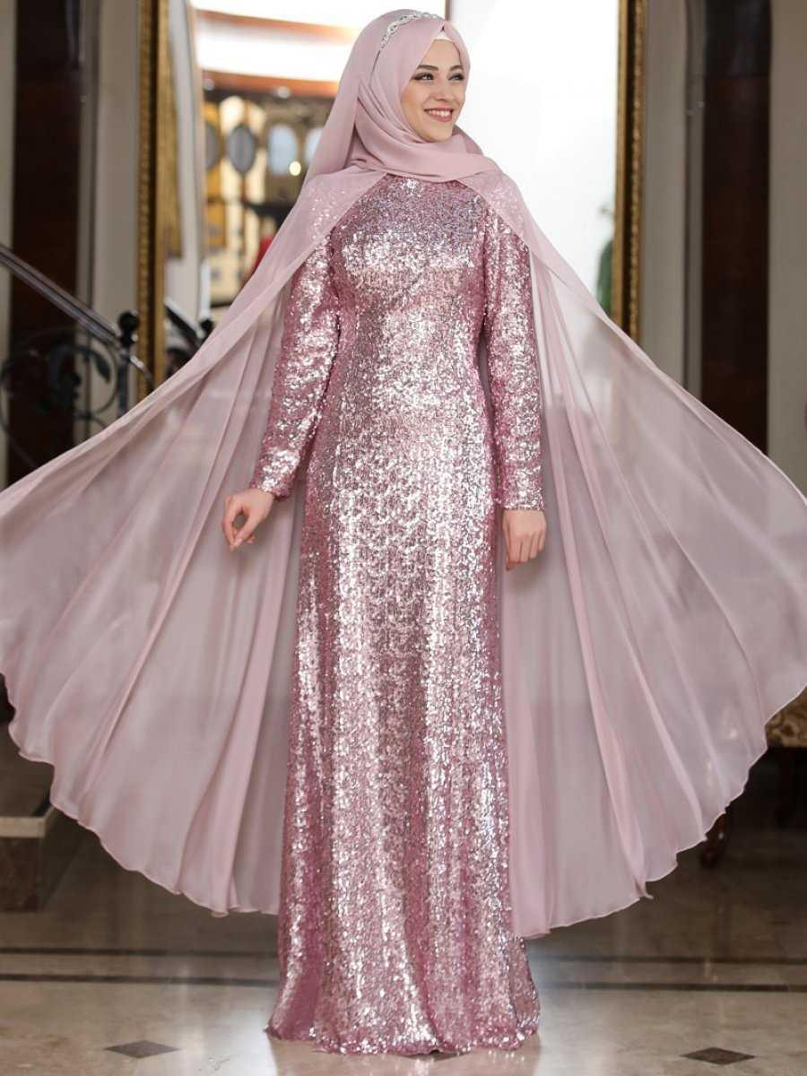 Al Marah Tesettür Pelerinli Abiye Elbise Modelleri