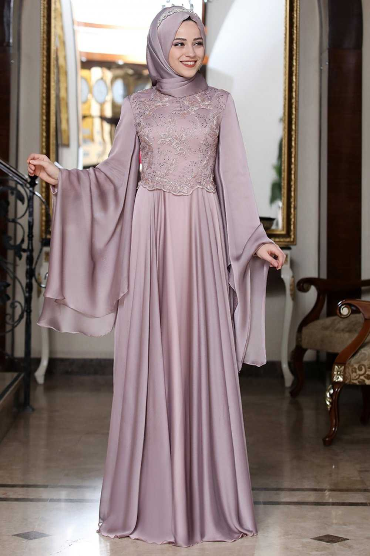 Al Marah Tesettür Yaprak Abiye Elbise Modelleri