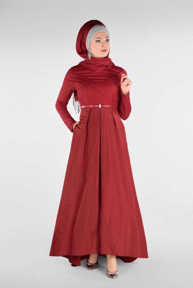 Alvina Tesettür Tafta Abiye Elbise Modelleri