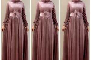 Tesettür Kadife Abiye Elbise Modelleri