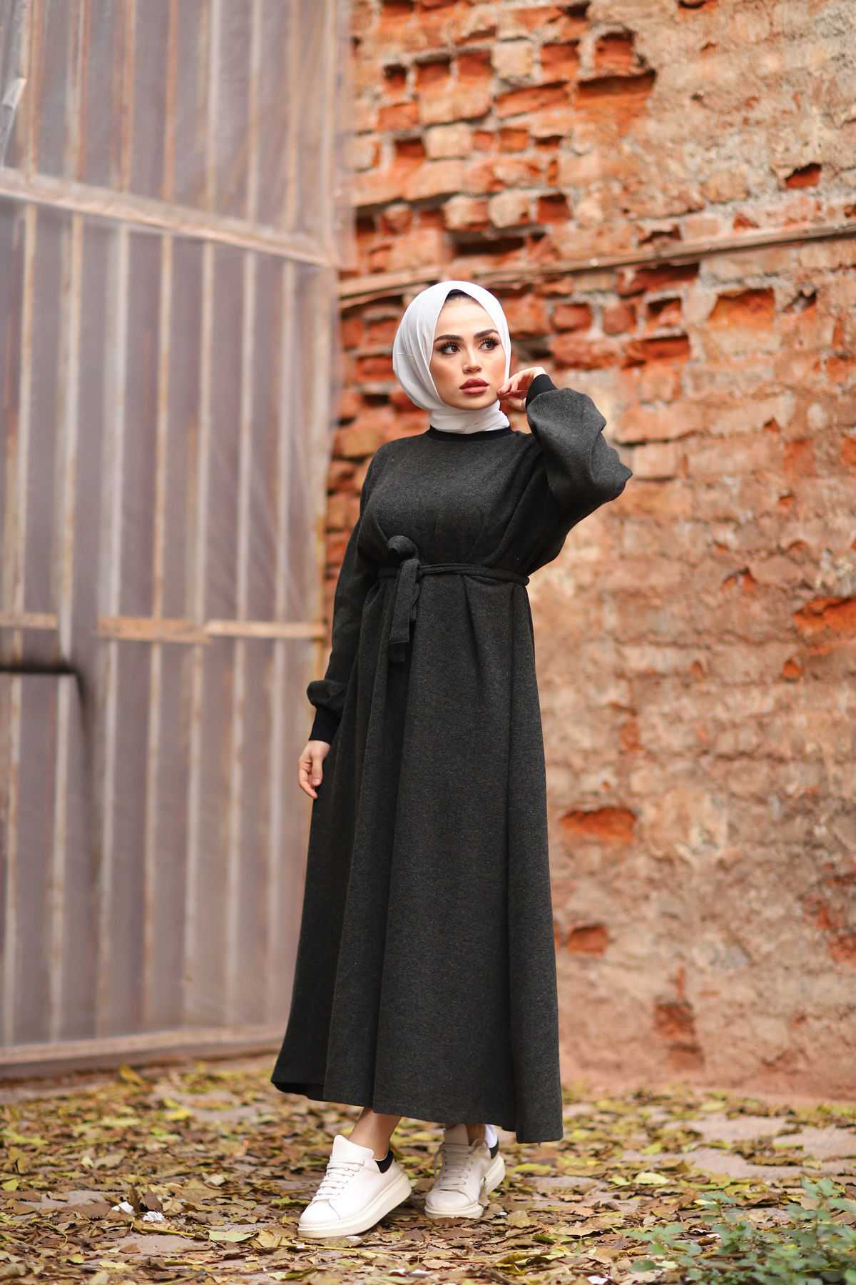 Eliza Moda Selanik Örme Tesettür Elbise Modelleri