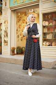 Eliza Moda Tesettür Desenli Jile Elbise Modelleri