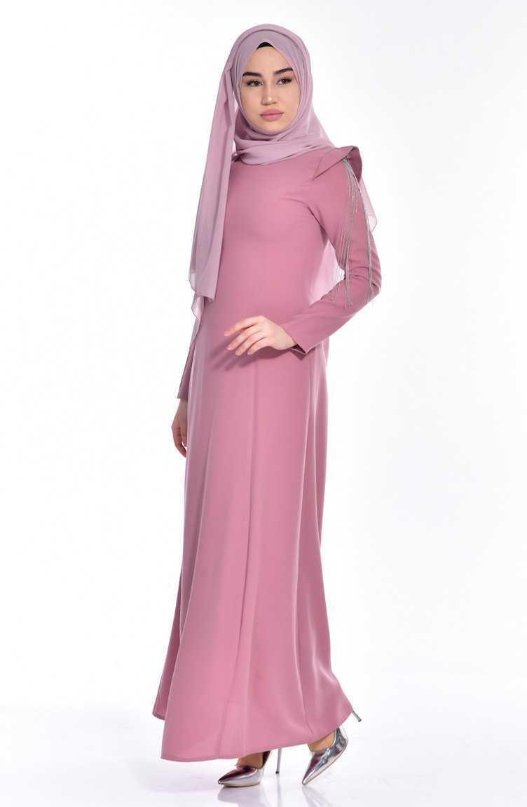 En Güzel Sefamerve Tesettür Apoletli Elbise Modelleri