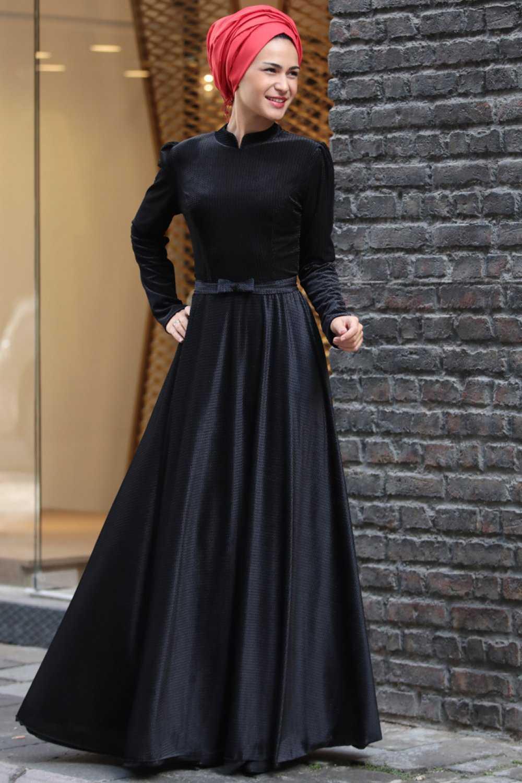 Miss Zera Tesettür Kadife Abiye Elbise Modelleri