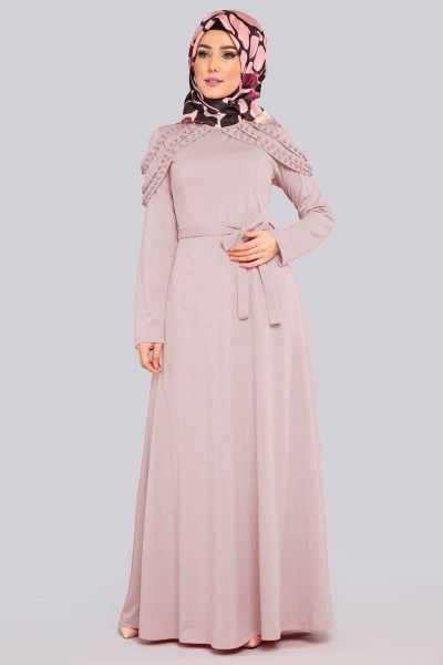 Moda Selvim Tesettür Apoletli Elbise Modelleri