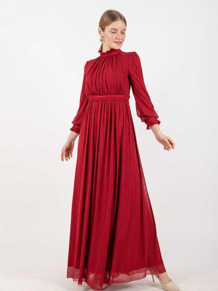 Puane Büzgülü Abiye Elbise Modelleri