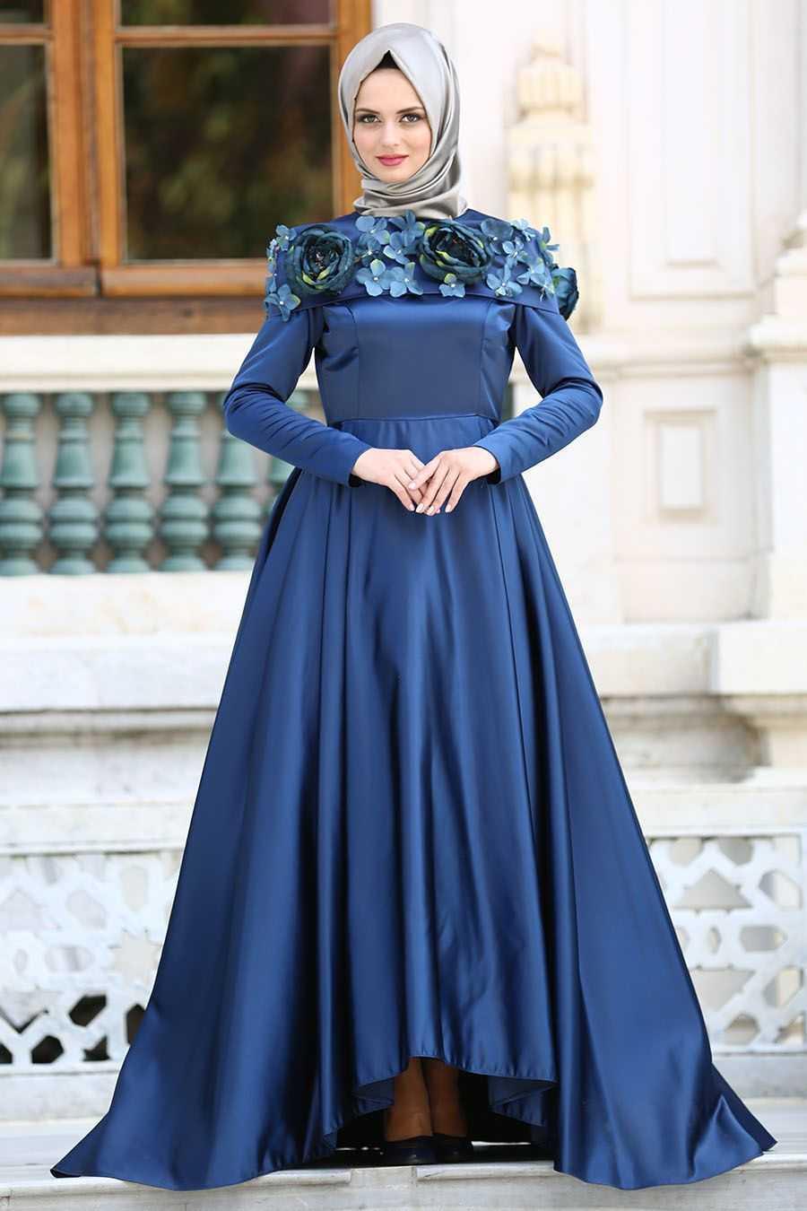 Tuay Üç Boyutlu Tesettür Tafta Abiye Elbise Modelleri