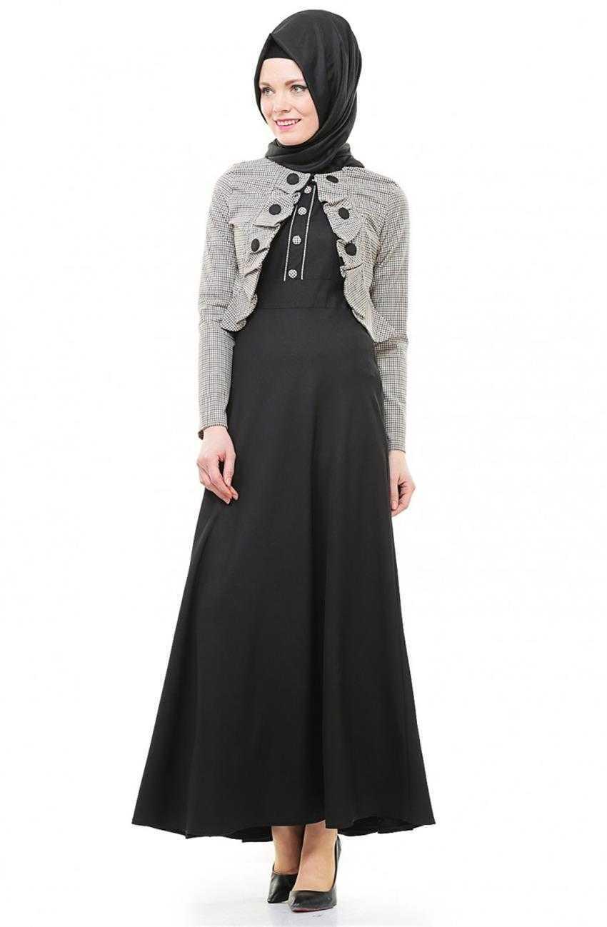 Bürün Tesettür Bolerolu Elbise Modelleri