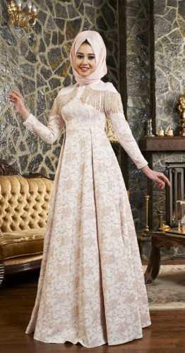 En Güzel Tesettür Broker Elbise Modelleri