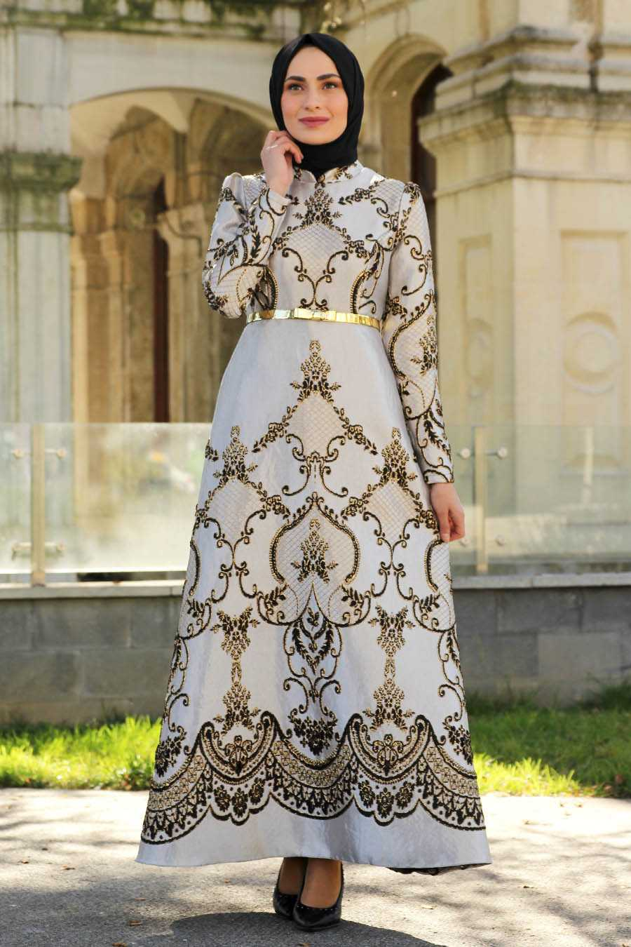 Feiza Collection En Güzel Tesettür Brokar Elbise Modelleri