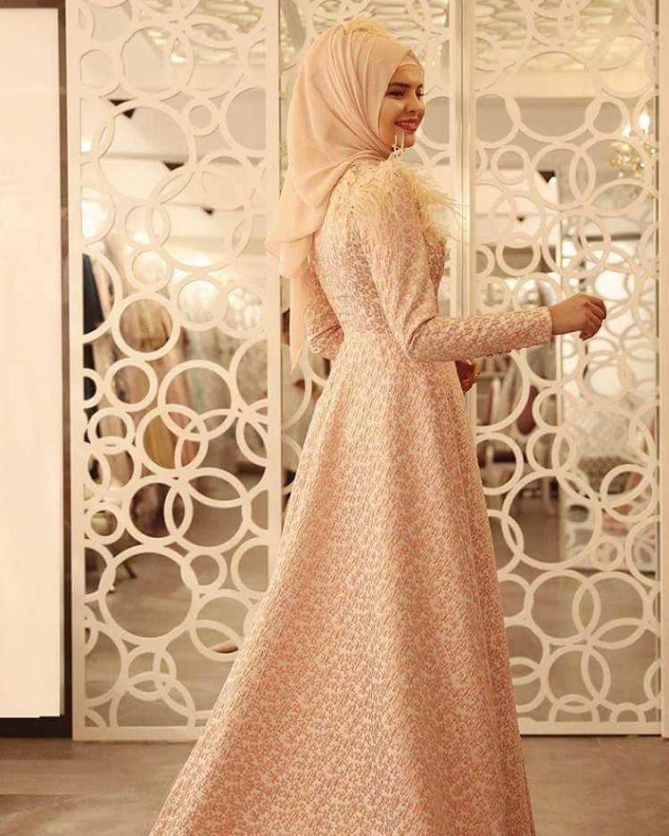 Hilal Baş Ahu Tesettür Broker Abiye Elbise Modelleri