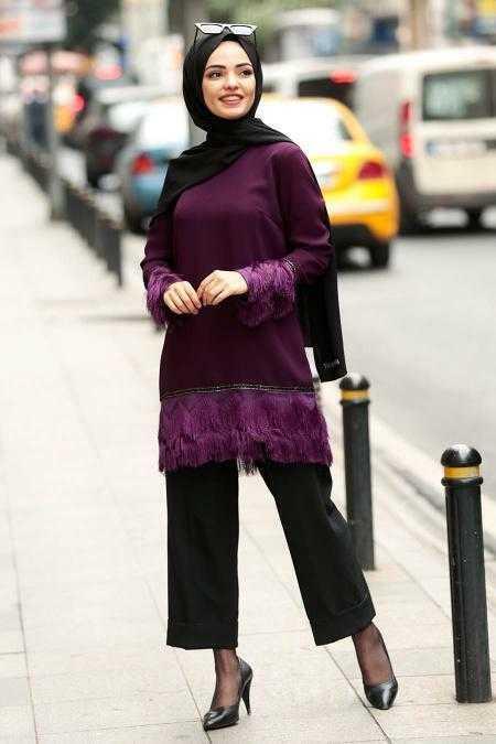 Nayla Collection Tesettür Püsküllü Şık Tunik Modelleri