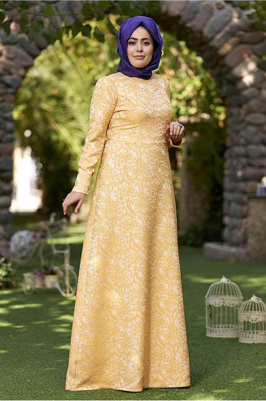 Nesrin Emniyetli Tesettür Broker Elbise Modelleri