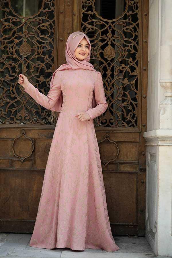 Pınar Şems Tesettür Şık Broker Elbise Modelleri