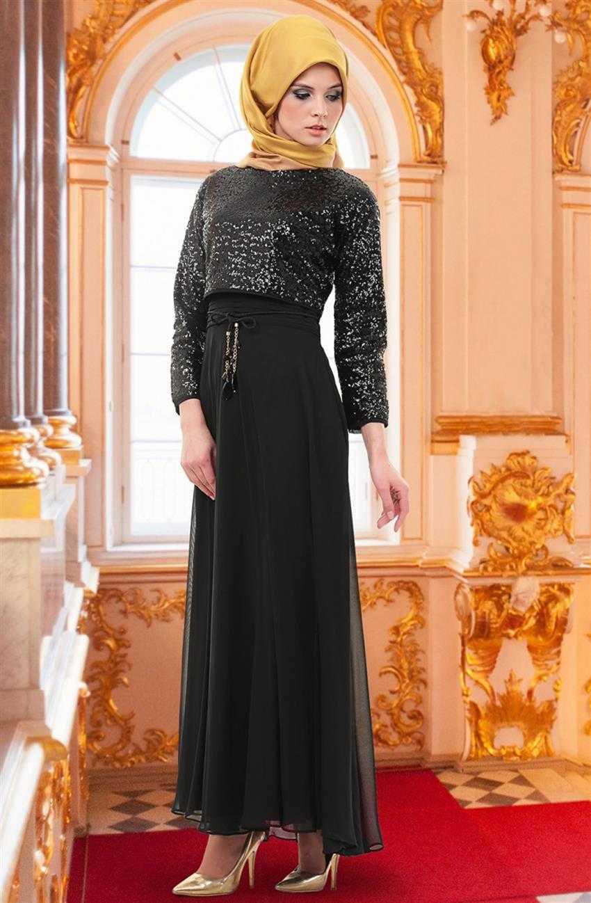 Puane Tesettür Bolerolu Abiye Elbise Modelleri