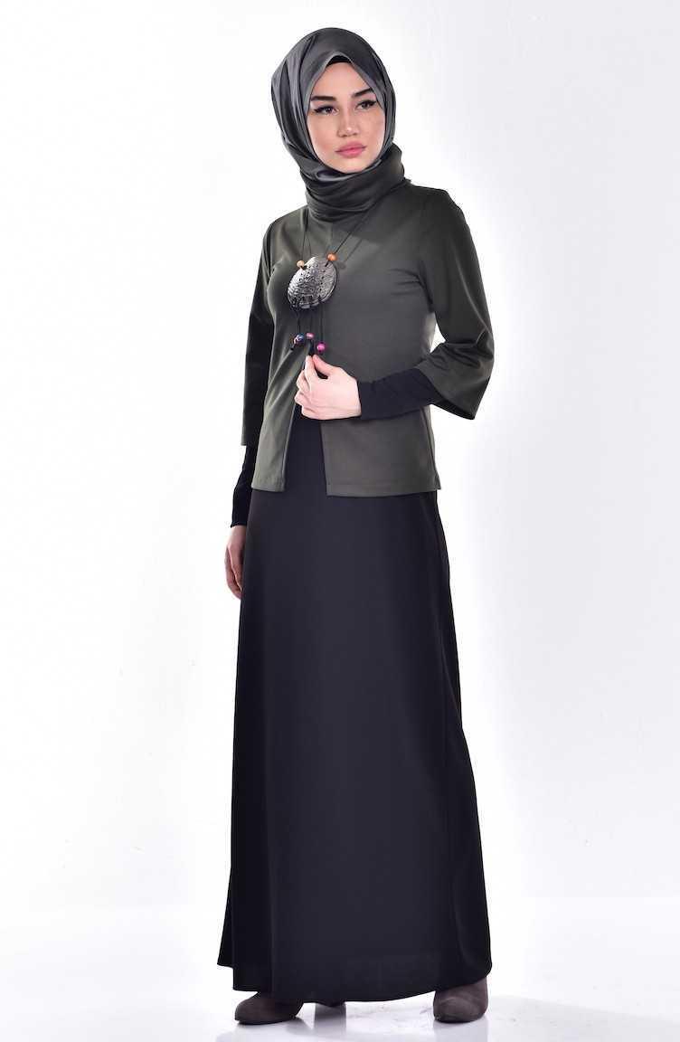 Sefamerve Tesettür Bolerolu Elbise Modelleri