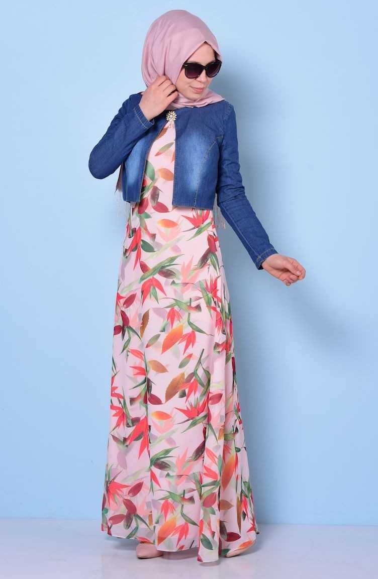 Sefamerve Tesettür Kot Bolerolu Elbise Modelleri