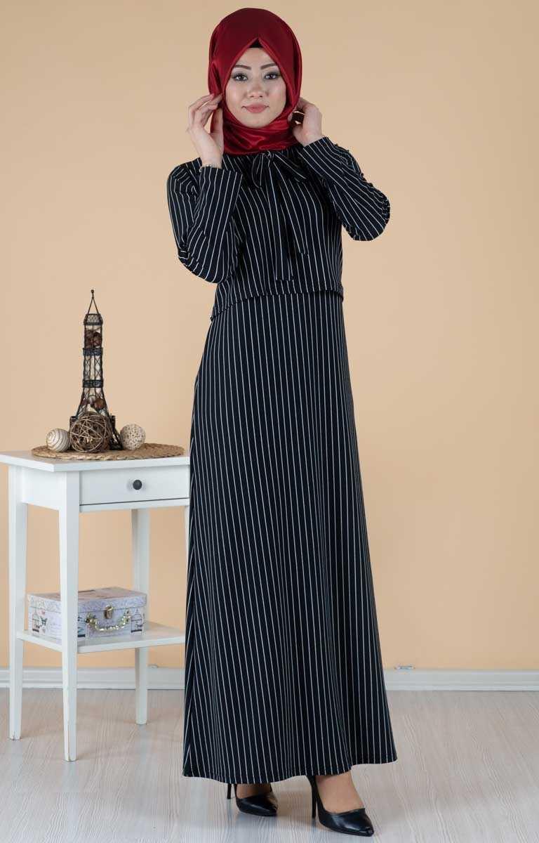 Tesettür Pazarı Bolerolu Elbise Modelleri