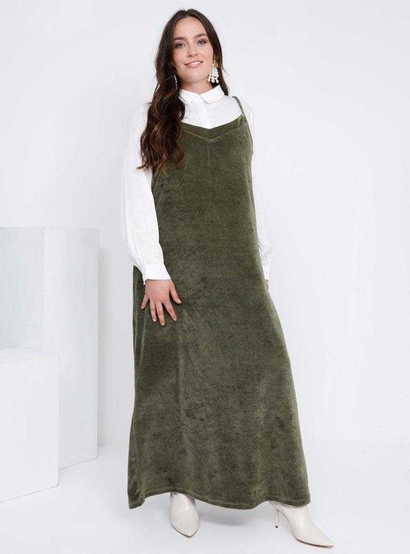 Alia Askılı Kadife Elbise Modelleri