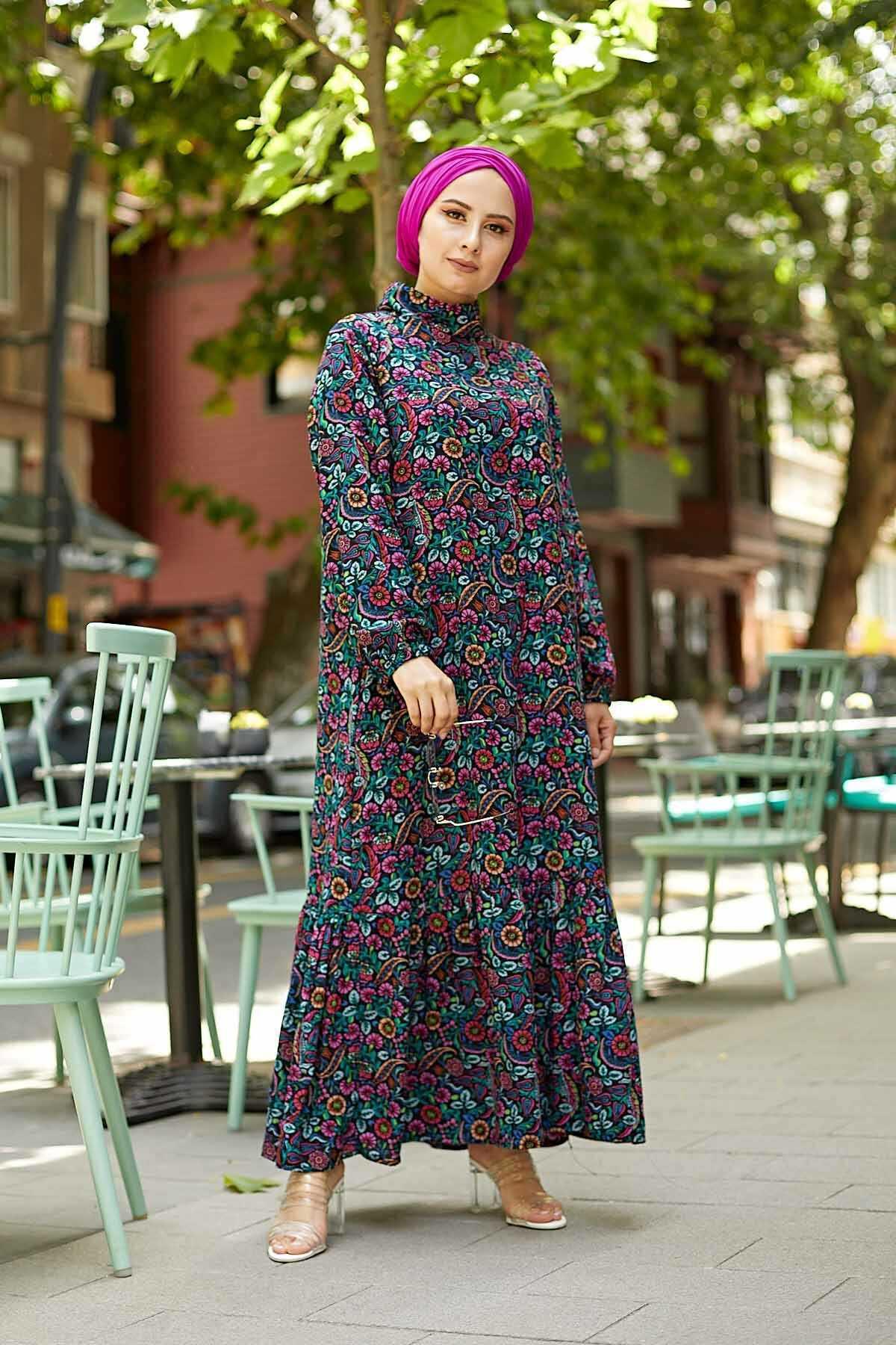 Eliza Moda Tesettür Viskon Elbise Modelleri