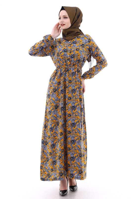 Moda Berfu Tesettür Viskon Elbise Modelleri