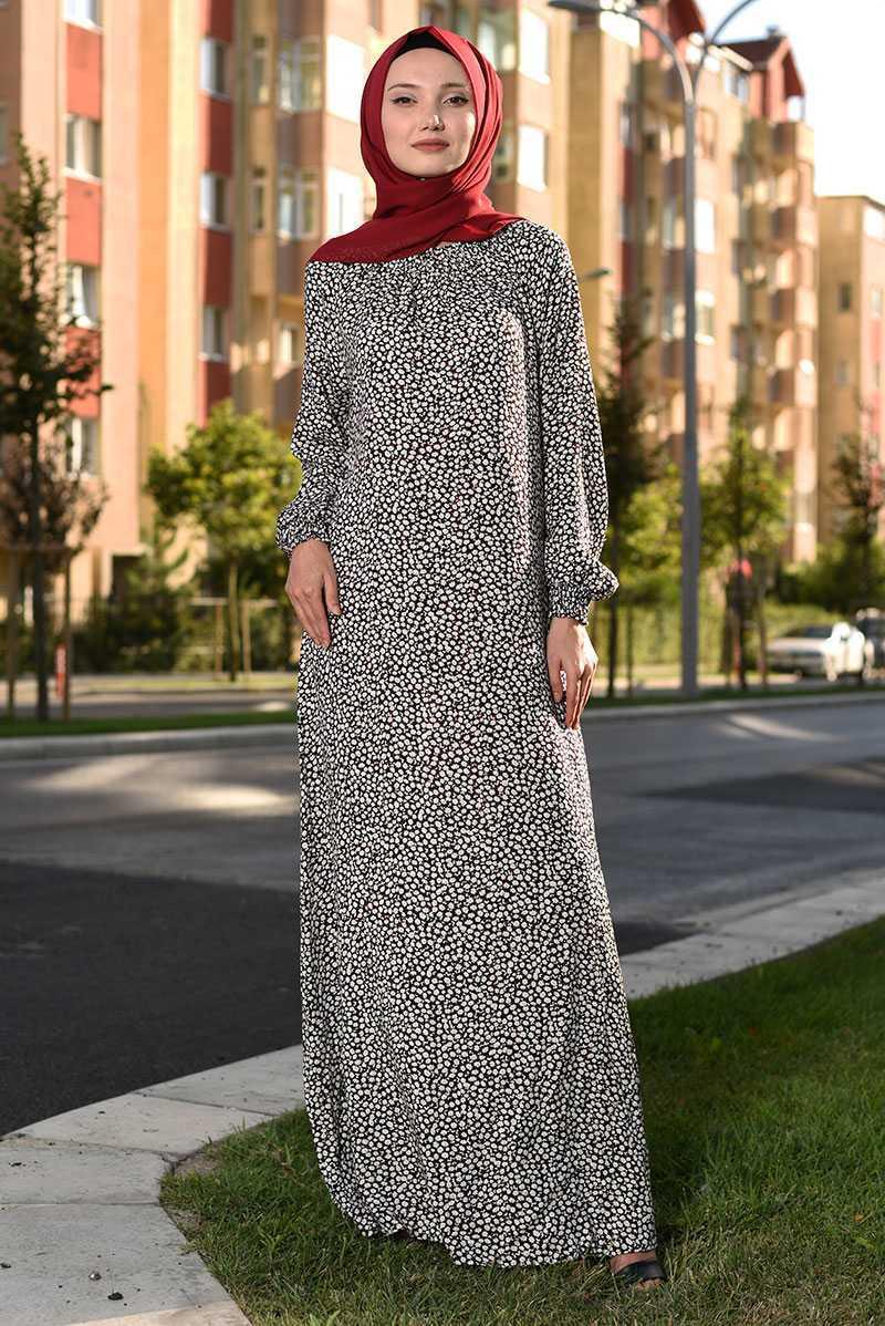 Modanoiva Tesettür Viskon Elbise Modelleri