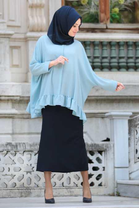 Neva Style Tesettür Fırfırlı Bluz Modelleri