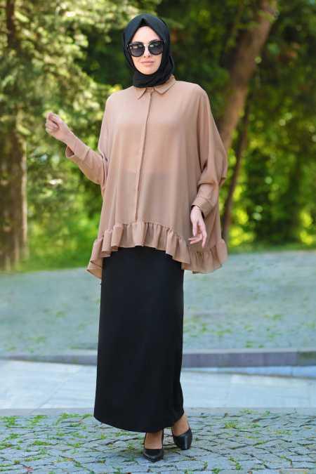 Neva Style Tesettür Fırfırlı Şık Bluz Modelleri