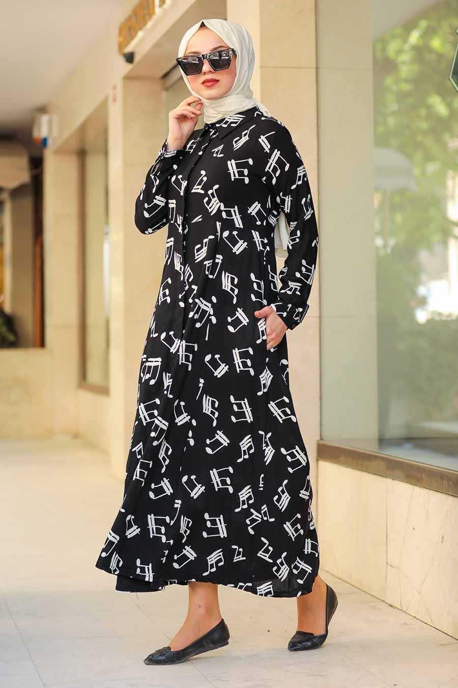 Neva Style Tesettür Viskon Elbise Modelleri