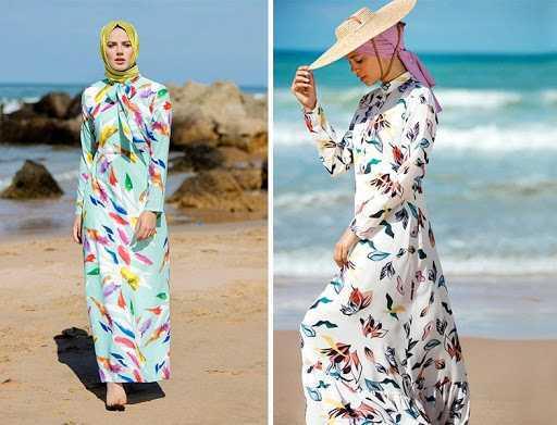 Refka Tesettür Yazlık Desenli Elbise Modelleri