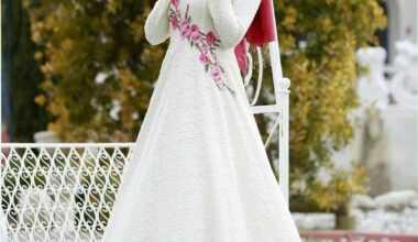 Tesettür Nakışlı Abiye Elbise Modelleri