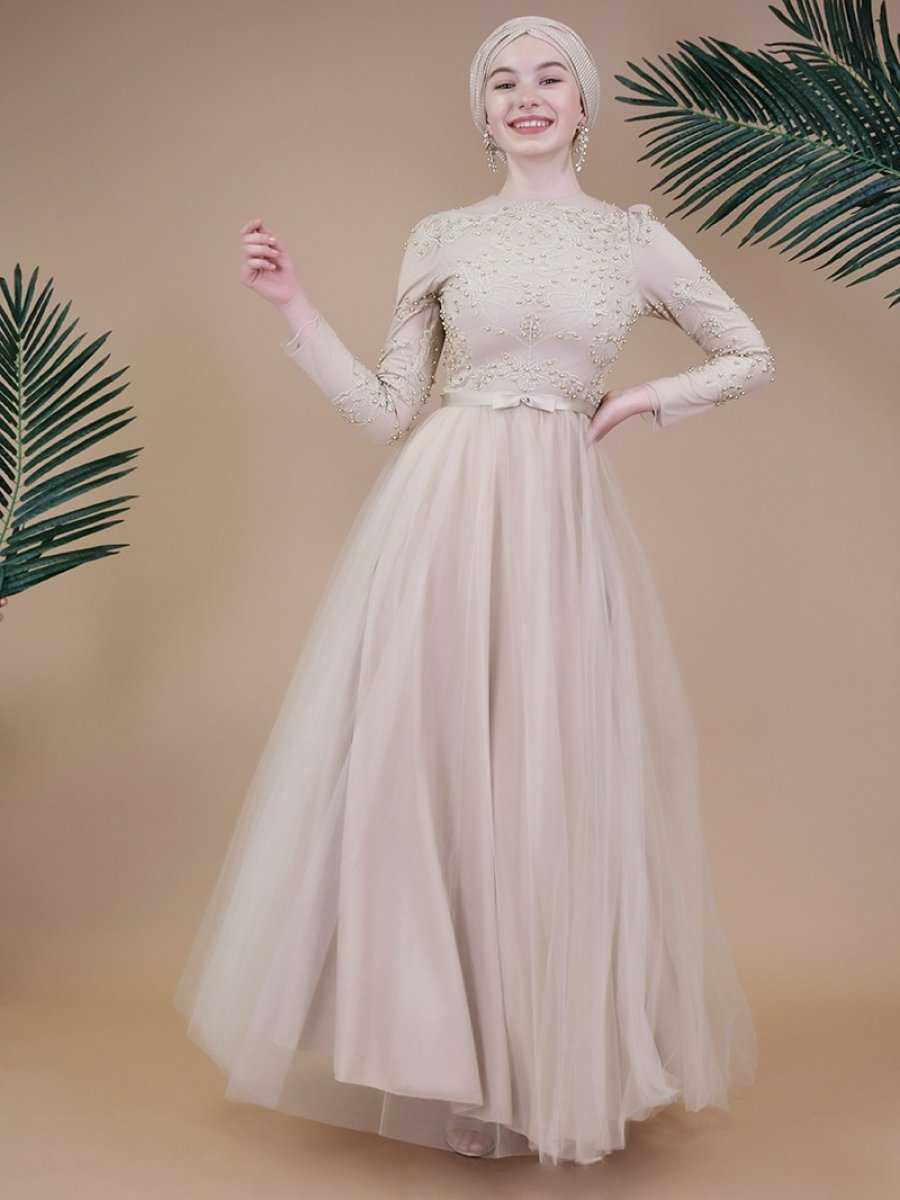 Sew&Design Tesettür Nakışlı Abiye Elbise Modelleri