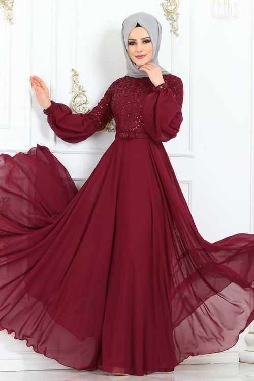 Moda Selvim Balon Kol Tesettür Abiye Modelleri