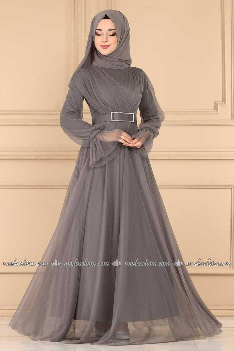 Moda Selvim Tesettür Taşlı Abiye Modelleri