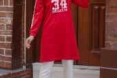 Tesettür Kırmızı Tunik Modelleri
