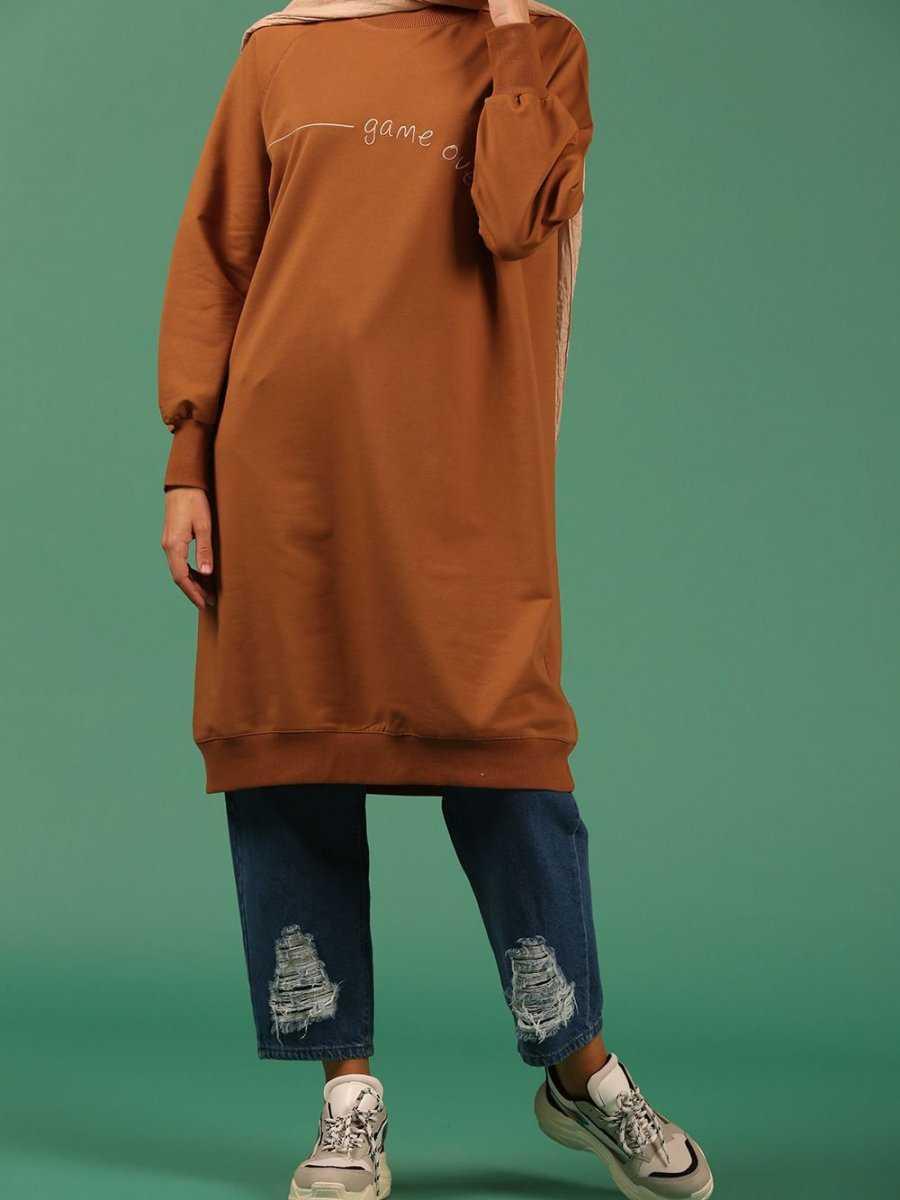 Allday Tesettür Penye Sweatshirt Modelleri