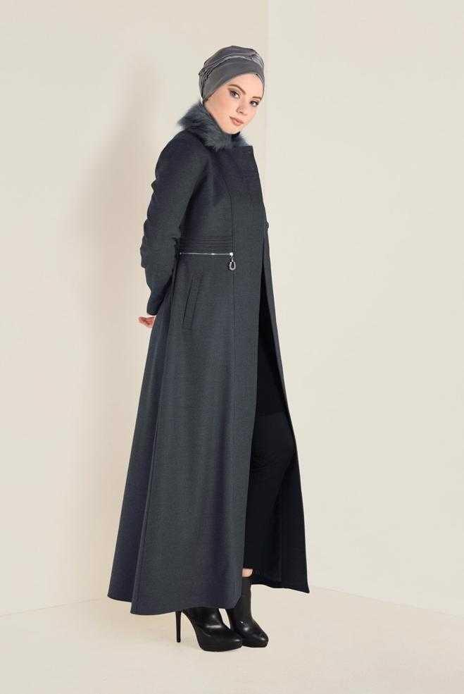 Alvina Tesettür Uzun Manto Modelleri