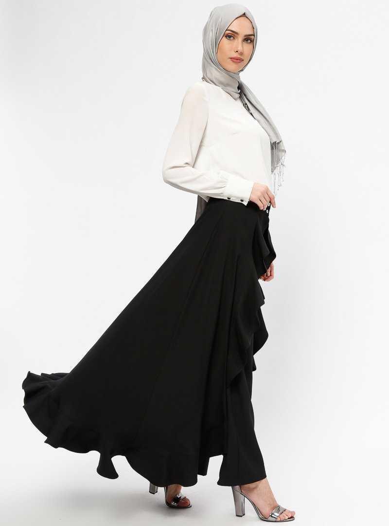 Bürün Tesettür Volanlı Pantolon Etek Modelleri